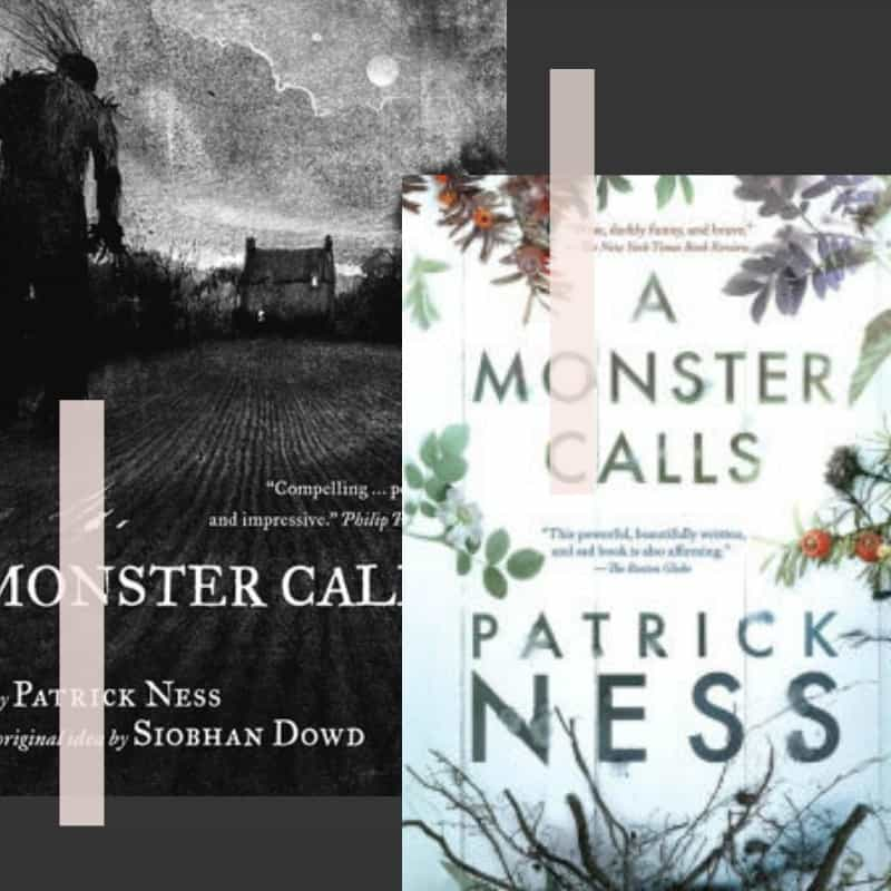 a monster calls covert art non-horror scary book