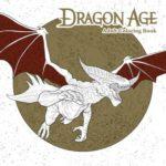 dragon age colouring book cover art book haul