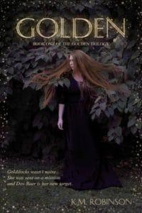 golden k m robinson cover art bookshelves