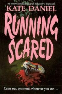 running scared kate daniel cover art bookshelves