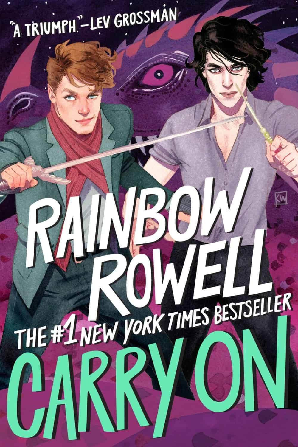 carry on rainbow rowell kevin wada art
