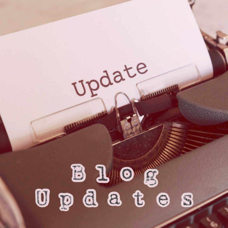 Blog Update: Apologies!