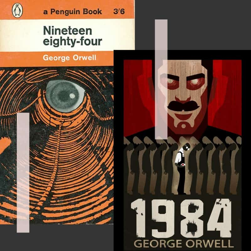 nineteen eight four cover art non-horror scary book
