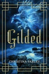 gilded christina farley cover art bookshelves