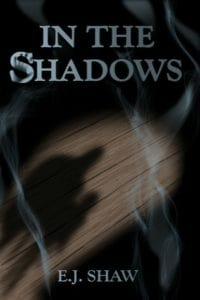 in the shadows e j shaw cover art bookshelves