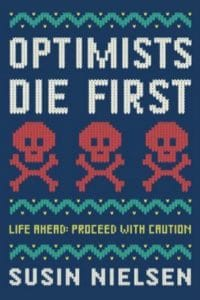 optimists die first susan nielsen cover art bookshelves